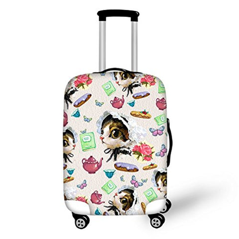 Suitcase Cover Personalised Cute Animal Printed For Travel Rolling Luggage