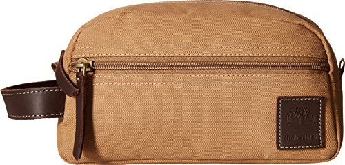 Timberland Wallets Classic Canvas Travel Kit (Khaki)