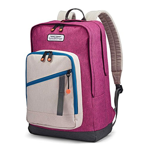 American Tourister Keystone Backpack Purple/Beige/Blue