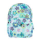 Damara Womens Vintage Flower Printed Simple Classic School Bag,Green
