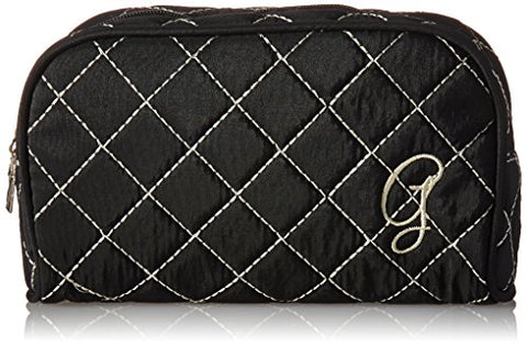 Kate Aspen Cosmetic Couture Quilted Monogrammed Make-Up Bag, Letter G