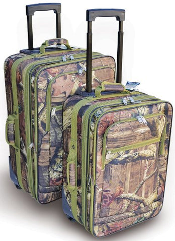 Explorer 2 pcs Mossy Oak Luggage Set Wheel Realtree Like Tactical Hunting Camo Heavy Duty Duffel