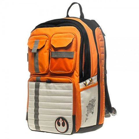"Star Wars Rebel Alliance Icon/Symbol 100% Polyester Backpack Size: 13"" W X 19""H X 8""D"