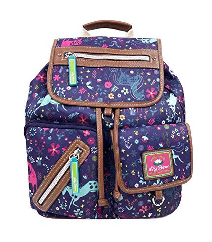 Lily Bloom Eco Friendly Unicorn Midnight Garden Riley Backpack