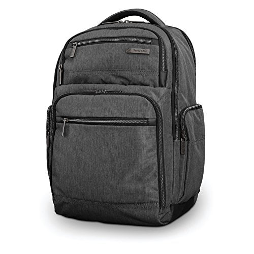 Samsonite Modern Utility Double Shot Backpack Laptop, Charcoal Heather One Size