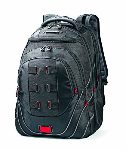 Samsonite Luggage Tectonic Backpack, Black/Red, 18 Inch