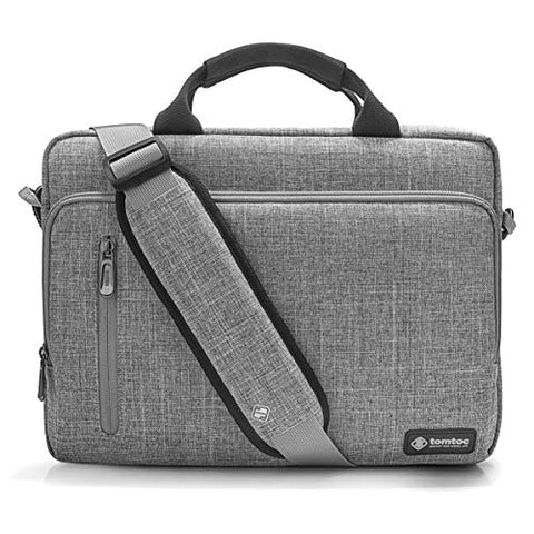 tomtoc Laptop Briefcase, 15-15.6 Inch Multi-Functional Laptop Shoulder Messenger Bag for 15-inch