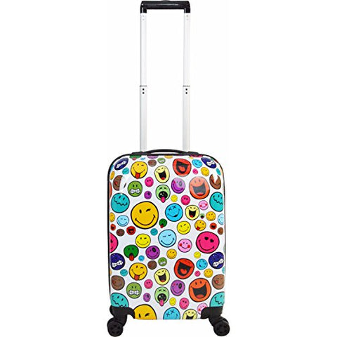"Smiley Celebration 22"" Spinner (White)"