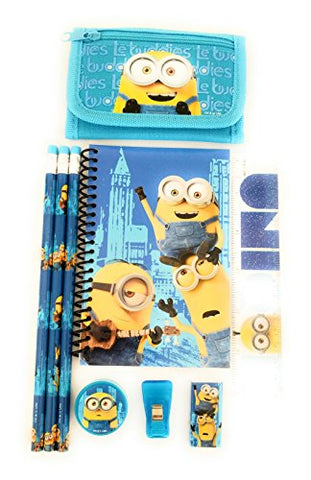 Minions Despicable Me Wallet & Stationary Gift Set For Kids (Wallet+Stationary Set-Blue)