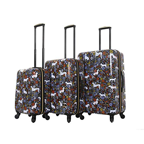 HALINA Vicky Yorke Urban Jungle Dogs 3 Piece Set Luggage, Multicolor