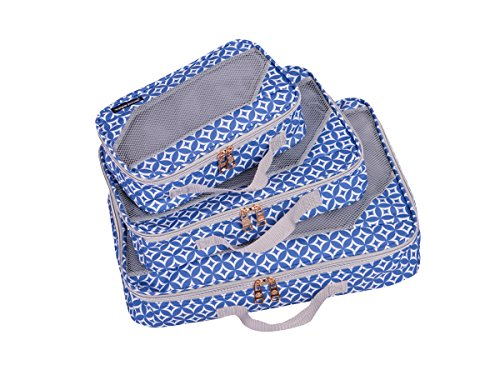 Jenni Chan Colima Packing Cube-3-Piece Set, Blue