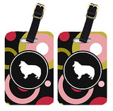Caroline's Treasures KJ1148BT Pair of 2 Sheltie Luggage Tags, Large, multicolor