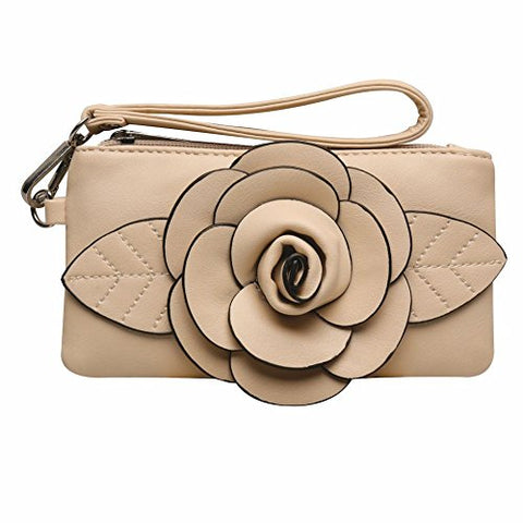 Wristlet Clutch Wallet By Mellow World Hb2710 (Beige)