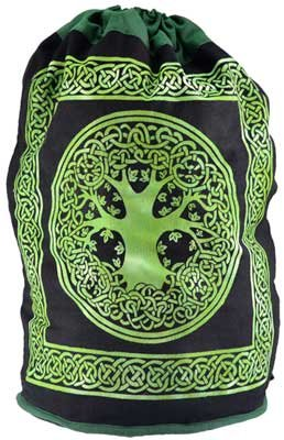 AzureGreen FSC76TL 17 x 20 in. Tree Of Life Backpack by AzureGreen
