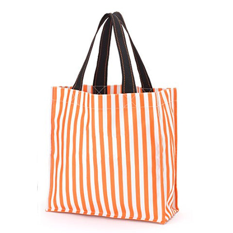 Polyester Fabric Halloween Bag Trick Or Treat Storage - Can Be Personalized (Orange Stripes)
