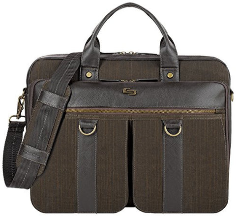 Solo Mercer 15.6 Inch Laptop Briefcase, Brown