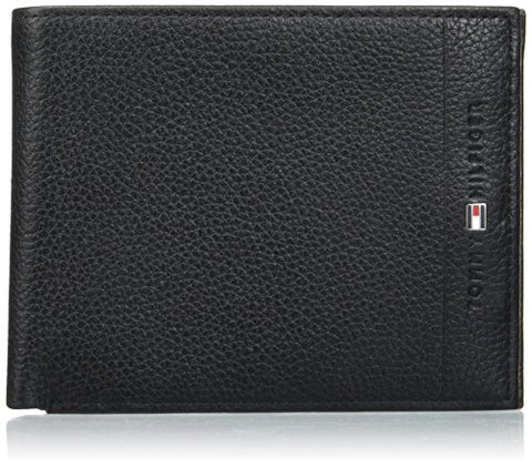 Tommy Hilfiger Mens Core Cc & Coin Purse Black (Black)