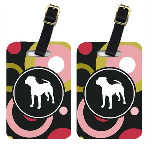 Carolines Treasures Kj1153Bt Pit Bull Luggage Tags - Pair Of 2