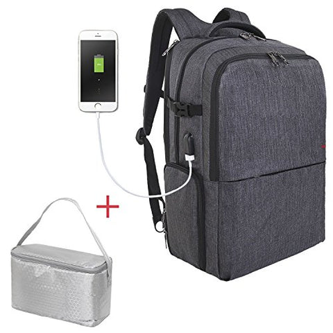 Travel Picnic Backpack For Men Women Waterproof 17 Inch Laptop Backpack With Usb Charging Port