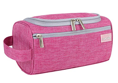 BAGAIL Hanging Dopp Kit Sturdy Travel Toiletry Organizer for Bathroom Shower Fuchsia