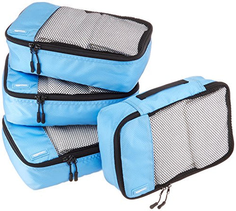 Amazonbasics Small  Packing Cubes - 4 Piece Set, Sky Blue