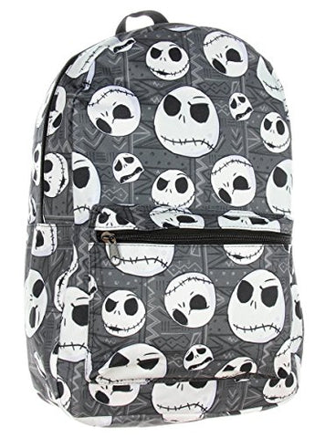 Nightmare Before Christmas Jack Skellington Head Print School Laptop Backpack Book Bag