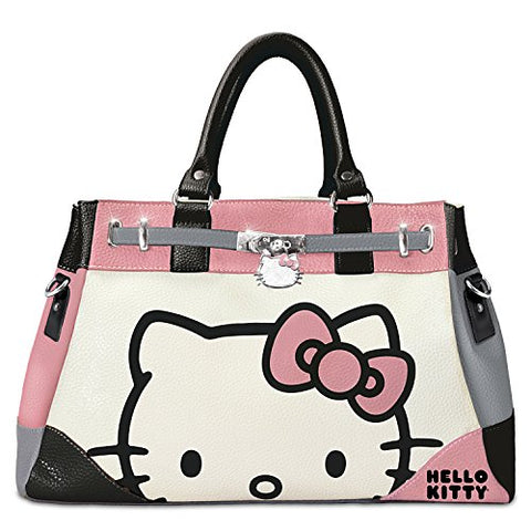 Hello Kitty Face Of Fashion Handbag With Charm By The Bradford Exchange