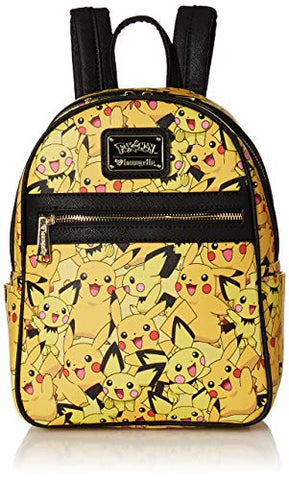 Loungefly x Pokemon Pikachu and AOP Pichu Print Backpack (One Size, Multi)