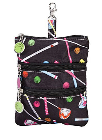 Sydney Love Sport Driving Me Crazy Clip On Zip Pouch, Black Multi