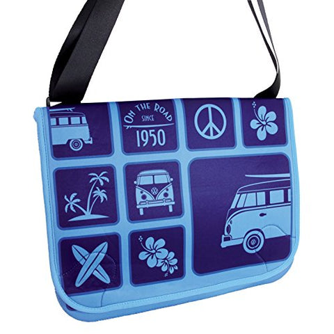 Vw Collection By Brisa Vw Bus Neoprene Messenger Bag - Blue
