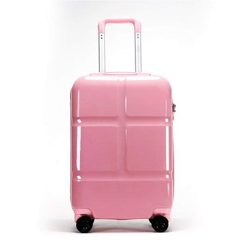 Suitcase, Lightweight, Large 28-Inch Hard-Shell Aluminum Alloy Suitcase, 4 Spinner Wheels, Abs Luggage Travel Trolley, Pink, 24 inch