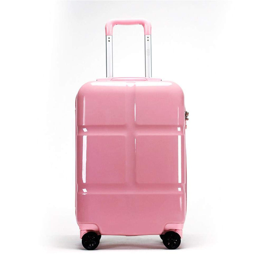 Suitcase, Lightweight, Large 28-Inch Hard-Shell Aluminum Alloy Suitcase, 4 Spinner Wheels, Abs Luggage Travel Trolley, Pink, 20 inch