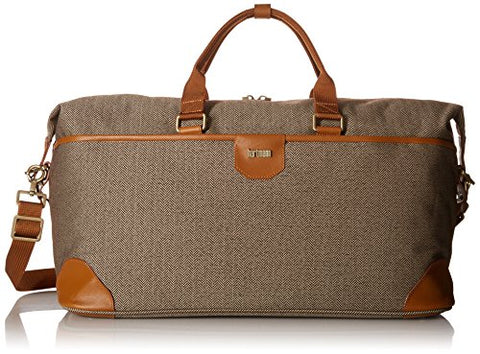 Hartmann Herringbone Luxe Softside Weekend Duffel, Terracotta Herringbone, One Size