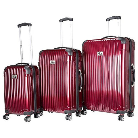 Chariot Paola 3-Piece Hardside Expandable Lightweight Spinner, Wine