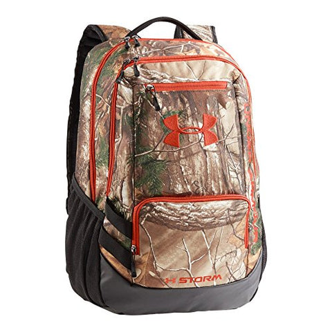 Under Armour Camo Hustle Backpack, Realtree Ap-Xtra/Dynamite, One Size