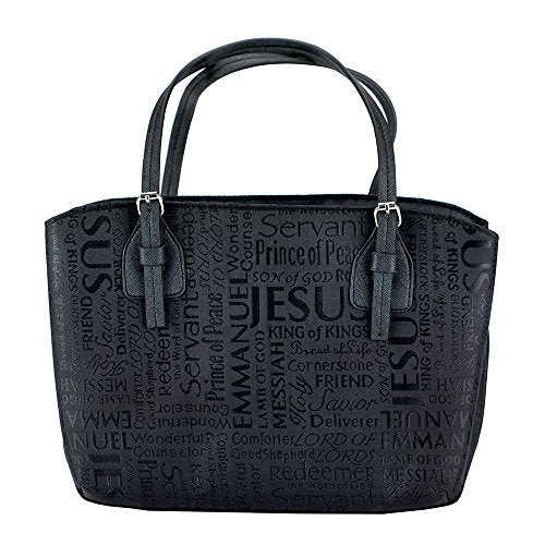 Names Of Jesus Handbag Style Bible Cover - Black - Large