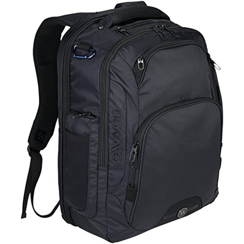 Elleven Rutter 17in Computer Backpack (13.6 x 5.9 x 18.1 inches) (Solid Black)