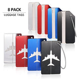 Luggage Tags, Bag Tag Travel ID Labels Tag For Baggage Suitcases Bags,8 Pack By Aootech