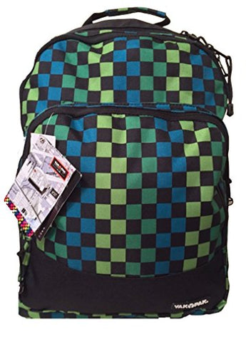 Yak Pak Empire Back Pack Turq/Green Check (Kz253-6482)