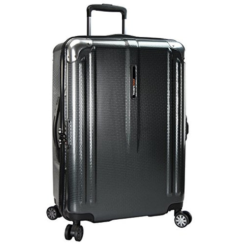 Traveler'S Choice New London 100% Polycarbonate Trunk Spinner Luggage - Gray ( 26-Inch )