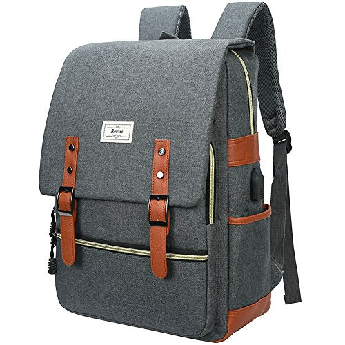 Unisex College Bag Fits up to 15.6'' Laptop Casual Rucksack Waterproof School Backpack Daypacks