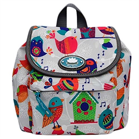 Lily Bloom Feather Weather Mini Backpack Birds Pattern