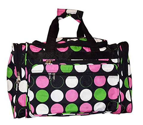"19"" Fashion Multi Pocket Duffle Bag - Personalization Available (Blank - Multi Dot)"