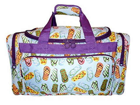 "19"" Fashion Fashionable Print Duffle Bag - Personalization Available (Flip Flop Print)"