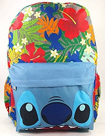 "LILO AND STITCH - STITCH LARGE 16"" BACKPACK - BIG FACE - 12467"