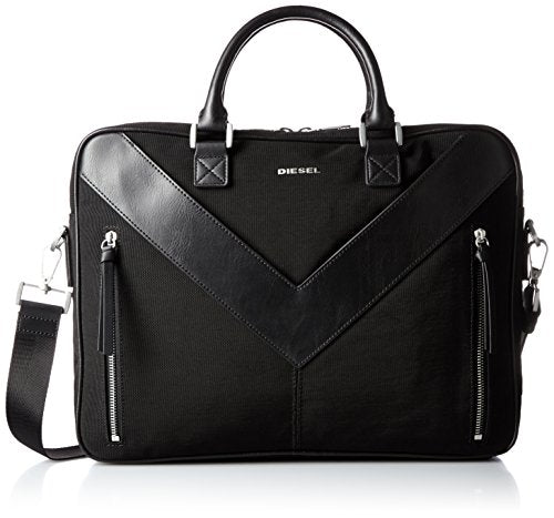 Diesel Men's Mr. V Zipper Mr. V-Briefcase, Black
