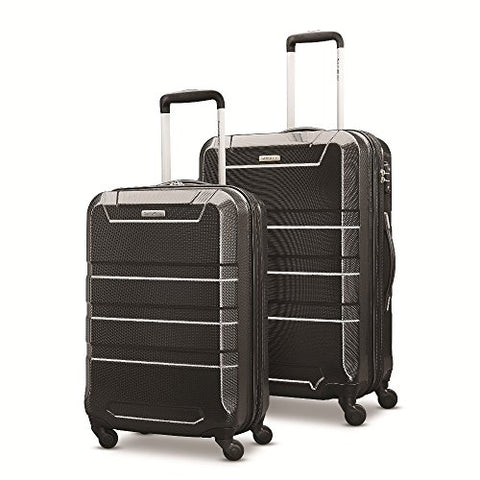 "Samsonite Invoke 2 Piece Nested Hardside Set (20""/24""), Black, Only At Amazon"