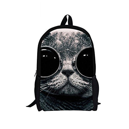 Doginthehole Cool Black Cats Print Students Preschool Backpack