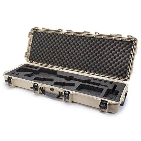 Nanuk 990 Waterproof Professional Gun Case With Foam Insert For Ar - Tan