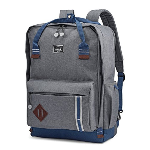 American Tourister Cooper Backpack, Grey/Navy 18""